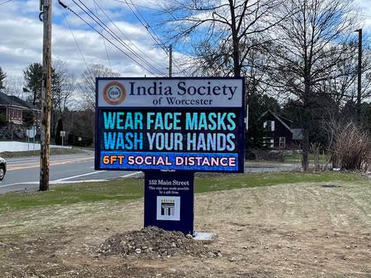 India Society Alpha LED Sign Board