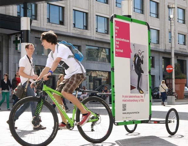 Mobile Signage via bicycle