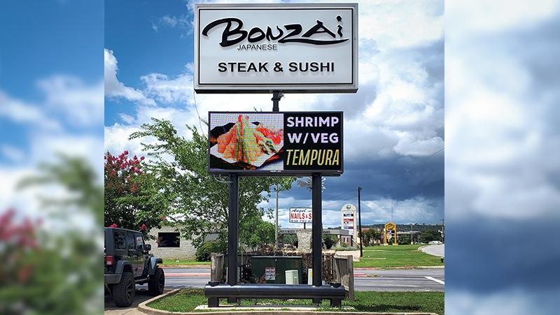 Bonzai Restaurant LED sign