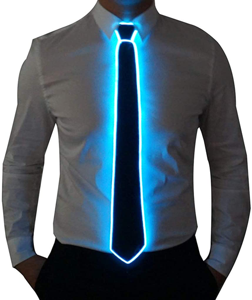 New LED Technology   Mini LED's on a man's tie