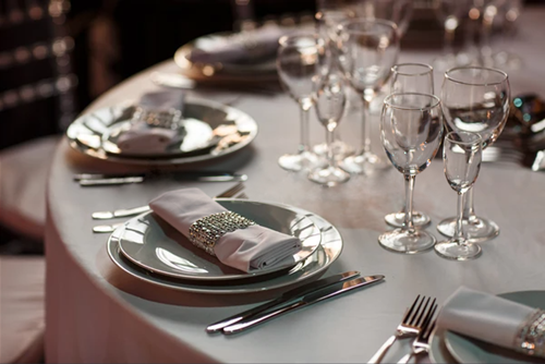 An upscale Dinner Party Table for a Special Event